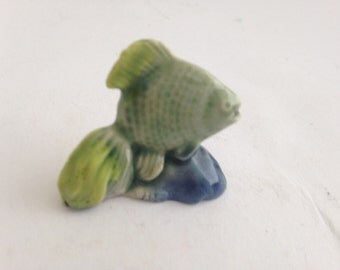 Wade Whimsies Fish  Figurine featured in Red Rose Tea Promotion