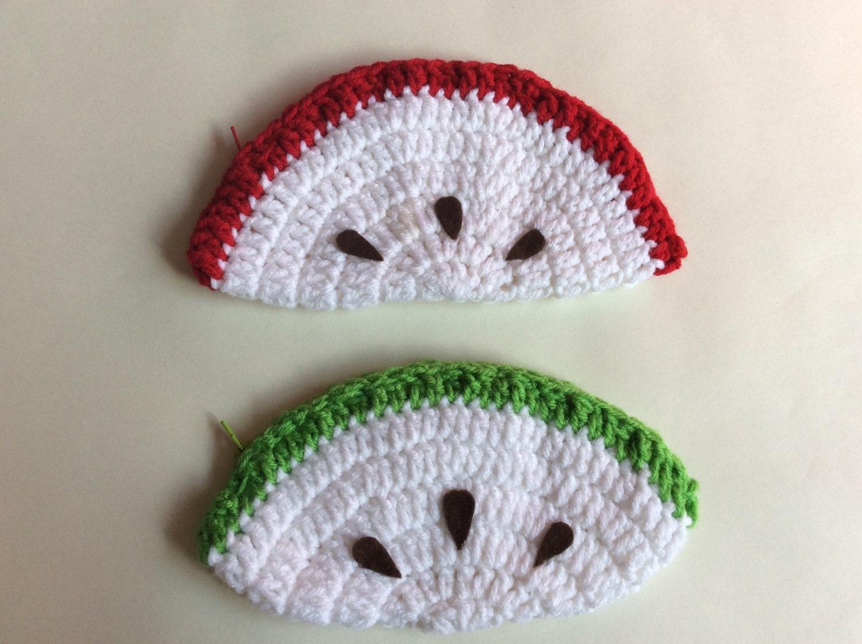 Crochet Apple Pencil Case Pouch