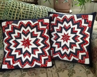 """quilted """"Somerset Star"""" matching pillows"""