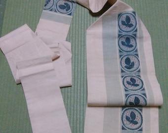 CLEARANCE!! Kimono Obi, Japanese vintage traditional kimono belt