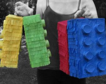 Lego Pinata, Lego Piñata, Party Pinata, Lego, Lego Party, Girls party, Boys party, birthday party, Lego birthday, party game, party theme