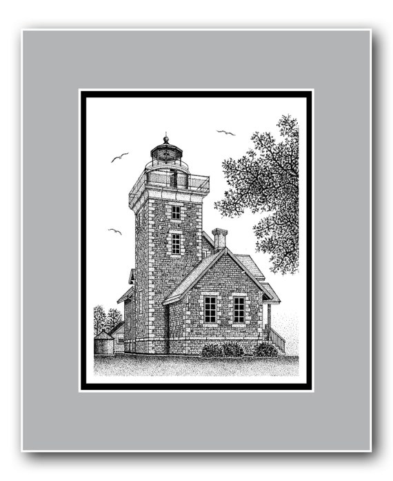 Thirty Mile Point Lighthouse Matted Limited Edition Print