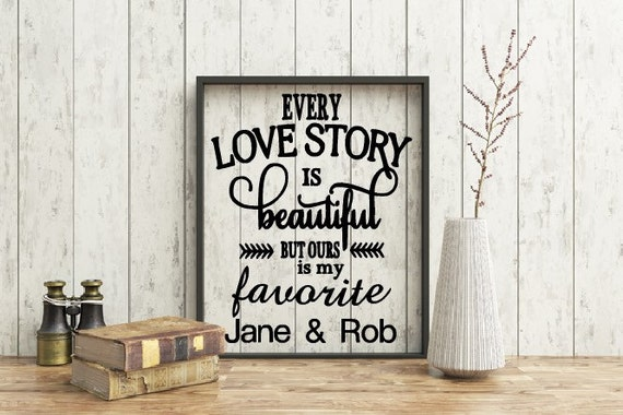 Personalized Love Story Quote Frame, Customized couple's frame, Anniversary, 8x10  Frame, Special occasion gift
