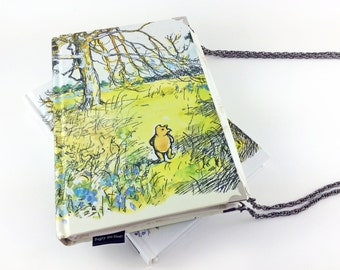 Winnie the Pooh Clutch Bag, A.A.Milne, Winnie the Pooh Purse, Bridesmaid Gift, People say nothing is impossible, but I do nothing every day