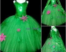 Custom Frozen fever inspired dress & cape set