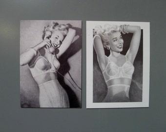 Set of Two Vintage Bra Ad Magnets