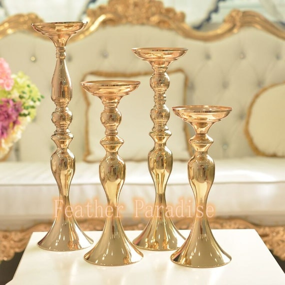 Pcs gold metal mermaid wedding floral stand riser flower