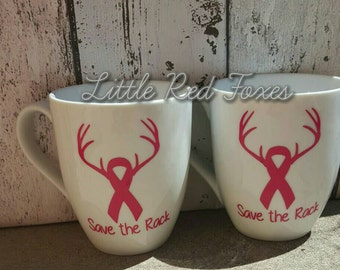 Save the Rack breast cancer Mug