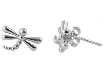 Dragonfly Sterling Silver Post Earrings, Generic Silver Jewelry, DFLY1-6120