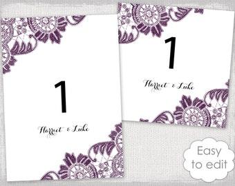 Reserved card template Flower Burst printable