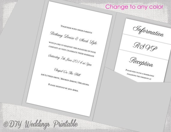 Pocket wedding invitations template diy pocketfold wedding pocket wedding invitations template diy pocketfold wedding invitation calligraphy pocket fold black any color 5x7 you edit word download solutioingenieria Gallery