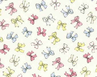 Bows - Creamy White / Multi by Lecien (31373-10) Cotton Fabric Yardage