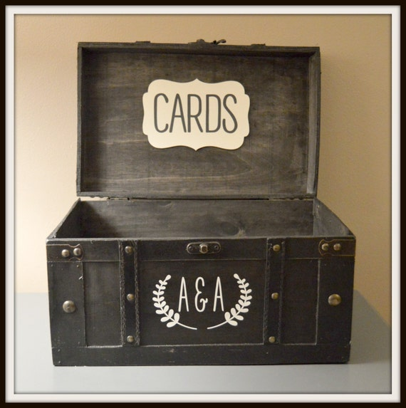 Vintage Wedding Gift Card Holder : Black Vintage Wedding Card Box Holder Trunk - Large, Wedding Gift Card ...