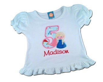 Winter Queen Birthday Shirt with Number and Embroidered Name