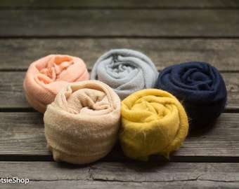 13 Colors Available. Faux Mohair Stretch Knit Wrap, Newborn Knit Wrap, Baby Knit Wrap, Mohair Wrap, Photography Props