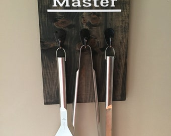 Grill Master sign with 3 hooks
