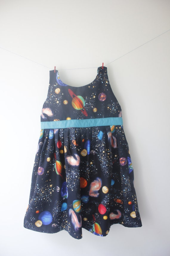 Planets dress outer space dress space outfit spcae party for Outer space outfit