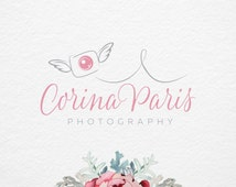 Angel Camera, Photography Logo, Pre-Made Logo