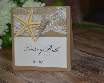 Beach Wedding Place Cards Name Place Cards Holders for Weddings