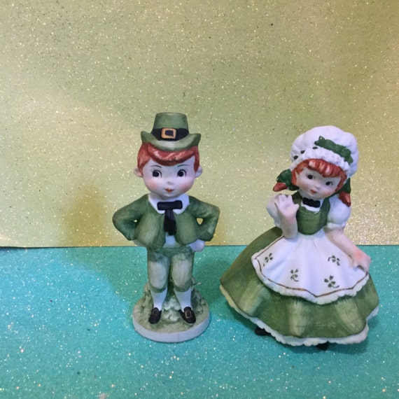 Lefton Handpainted St. Patty's Couple