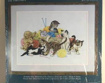 Needle Treasures Cat 04634 The Yarn Party Counted Cross Stitch Kit