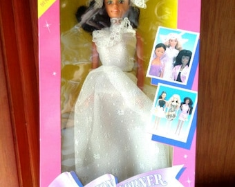 Doll Fashion Corner Doll by Lucky Ind. Co. LTD - Dressed In White Dress And Hat 1991 - Free Shipping