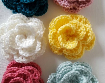 Crocheted roses group 2 crafting Ready to ship