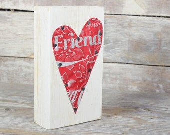 Coke Coca Cola Friend Red Heart Soda Can Art