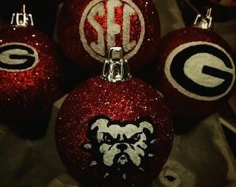 3 University of Georgia Ornaments