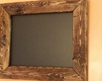 Rustic Home Decor, chalkboard  16 1/2 x 14,  Chalkboard frame, reclaimed wood chalkboard,  chalkboard sign, menu board. black board