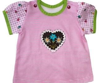 Sweet costumes Baby T -Shirt Trachtenherz for girls Oktoberfest Bavarian style
