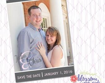 Save the Date - Printable Photo Postcard