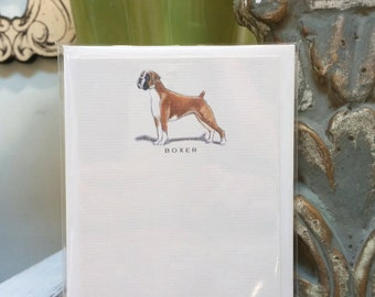 Boxer Dog Note Card Set