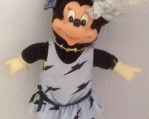 Vintage Minnie Mouse Doll Totally Minnie by Applause Rubber Face Hands and Shoes