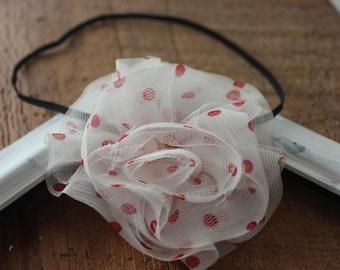 Colour Rose Chiffon Headbands/Skinny Elastic