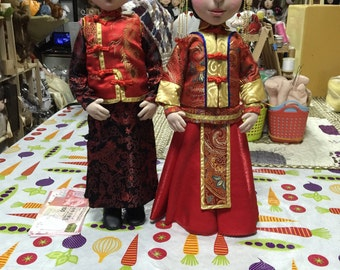"50"" chinese look wedding doll"
