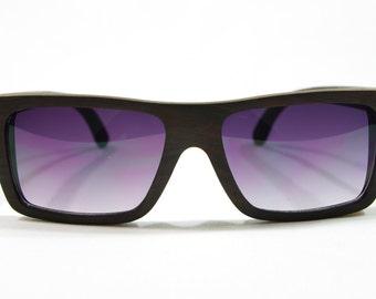 LG Ebony Sunglasses, Wood Frame Glasses, Wooden Eye Glasses, Wood Sunglasses, Wooden Gift for Dad, Wood Glasses