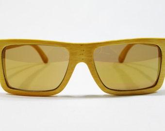 LG Bamboo Sunglasses, Wood Frame Glasses, Wooden Eye Glasses, Wood Sunglasses, Wooden Gift for Dad, Wood Glasses, Floating Sunglasses