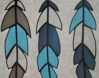 Stained Glass Feathers - Set of 3  ***More New Colors***
