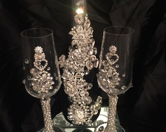 Glamour Wedding Champagne Set