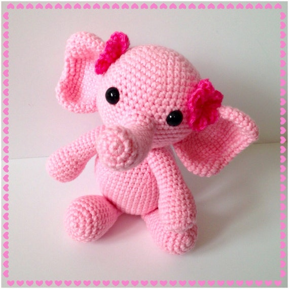 Amigurumi Elephant Crochet Elephant Stuffed Toy by AmiAmiGocco