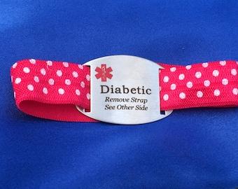 Diabetic Medical Alert ID w/Elastic Band