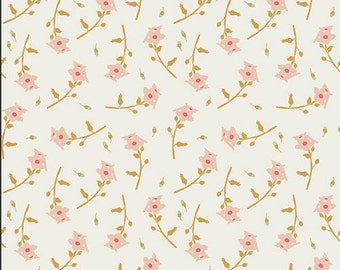 Freshly Picked Sherbet RMS-2507,  Reminisce, Bonnie Christine, Art Gallery AFG, Cream, Coral, Peach - 50 inches piece
