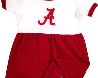 Alabama Crimson Tide Baby Bodysuit Dress