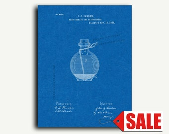 Patent Print - Hand Grenade Fire Extinguisher Patent Wall Art Poster