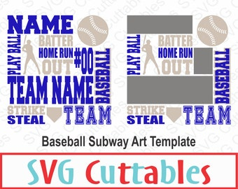 Baseball Subway Art SVG, DXF, Baseball SVG, Digital Cut File