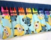 Minions Crayon Roll, Back to school, Crayon Case, Minions Gift