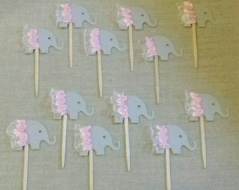 Elephant Ballerina cupcake toppers