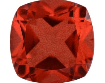 SunFire Orange Quartz Triplet Loose Gemstone Cushion Cut 1A Quality 10mm TGW 3.40 cts.