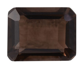 Brazilian Smoky Quartz Loose Gemstone Octagon Cut 1A Quality 10x8mm TGW 2.90 cts.